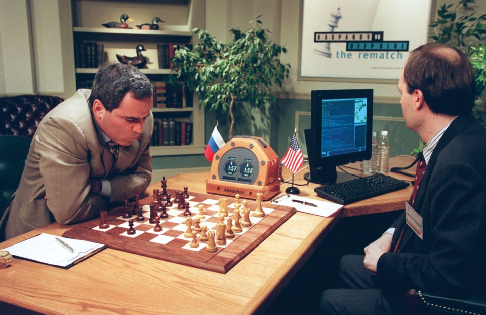 1996: Kasparov is beaten by IBM's Deep Blue.