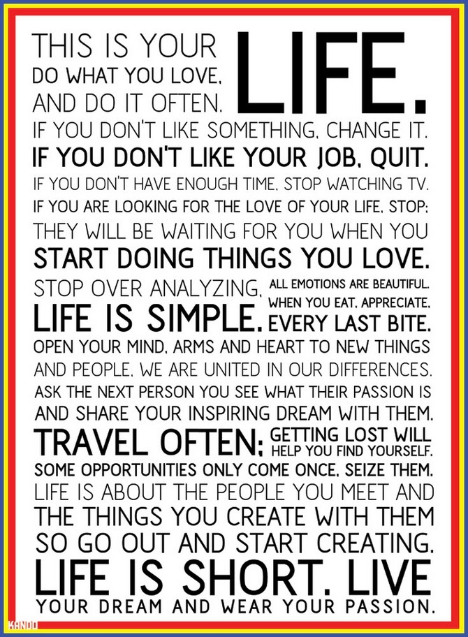 The Holstee Manifesto This Is Your Life Welcome To The Real World